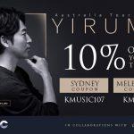 Exclusive KMUSIC discount coupons for Yiruma's Australia Tour 2019!