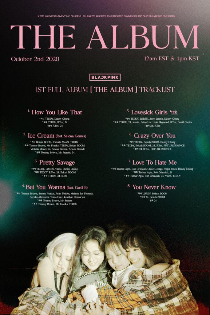 BLACKPINK The Album track list